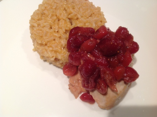 Honey-Cranberry Chicken with Orange-Paprika Rice